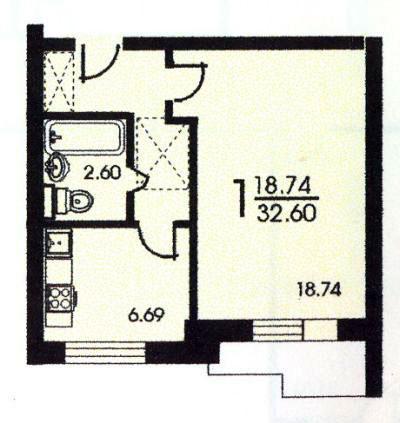 Однокомнатная квартира серия II 57 - серия II 57 фото
