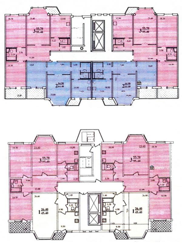 Планировка квартир в жилых домах серии пд4м - Пд4 и Пд4м фото