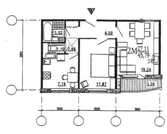 Двухкомнатные квартиры домов серии эко - дома эко (М6-ЭКО) фото