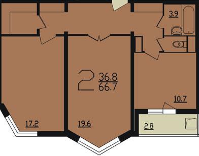 планировка двухкомнатной квартиры п44т - Дома серии п44т фото