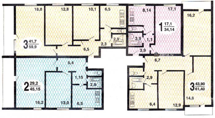типовые планировки квартир 1605-09 - 1605-09 фото