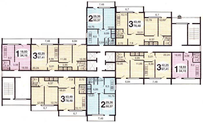 Планировка квартир в жилых домах серии и700а - И-700А дома серии фото