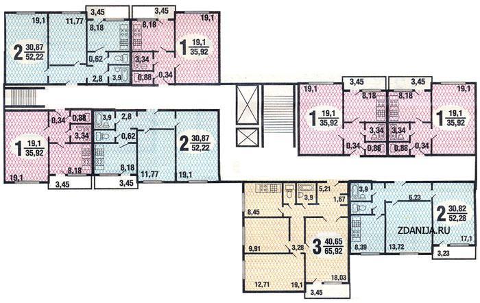 типовые планировки квартир п 43 - Серия П43, планировки квартир фото