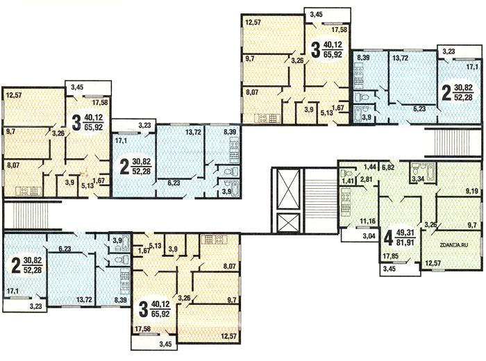 Типовые планировки квартир п42 - п-42 фото