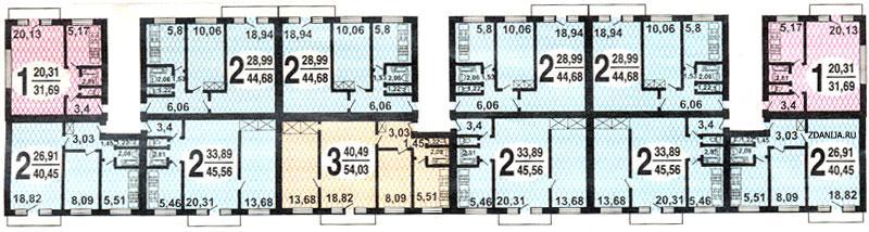 типовые планировки квартир дома серии 1-515/5 - 1-515/5 фото