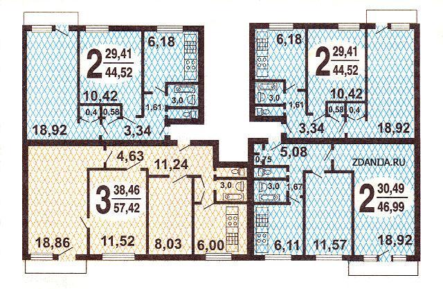 1-515/9M типовые планировки квартир в домах серии - Серия 1-515/9м фото