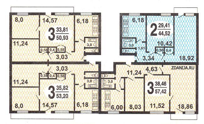 серия дома i-515 планировка квартир с размерами