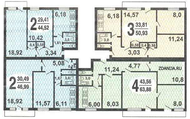 типовые планировки квартир в домах серии 1-515/9M - Серия 1-515/9м фото