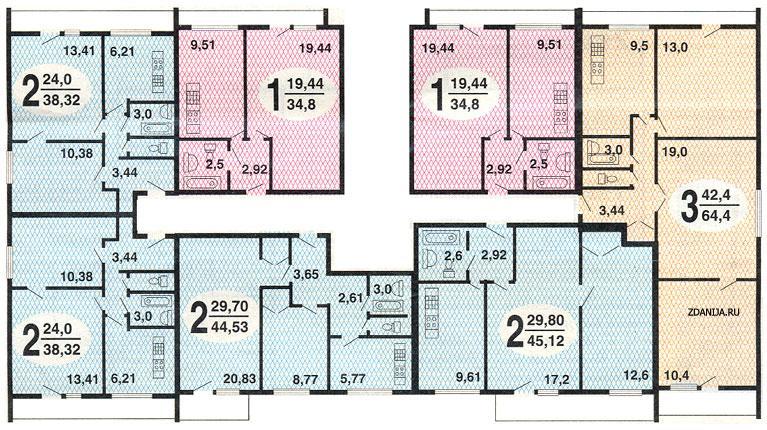 типовые планировки квартир и209а - однокомнатные двух и трёхкомнатные квартиры - дома серии и209а фото