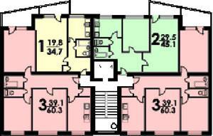типовые планировки квартир в жилом доме 1-515/9ш - дом серии 1-515/9 ЮЛ фото