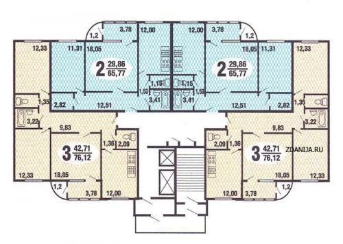 типовые планировки квартир в жилых домах серии п 111 - п-111M фото