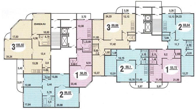 типовые планировки квартир в жилых домах серии п111м - п-111M фото