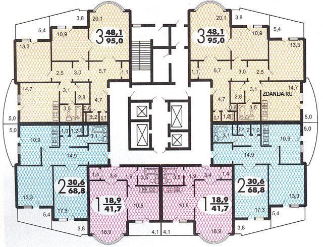 И 155 Б - типовые планировки квартир - дома серии и-155 фото