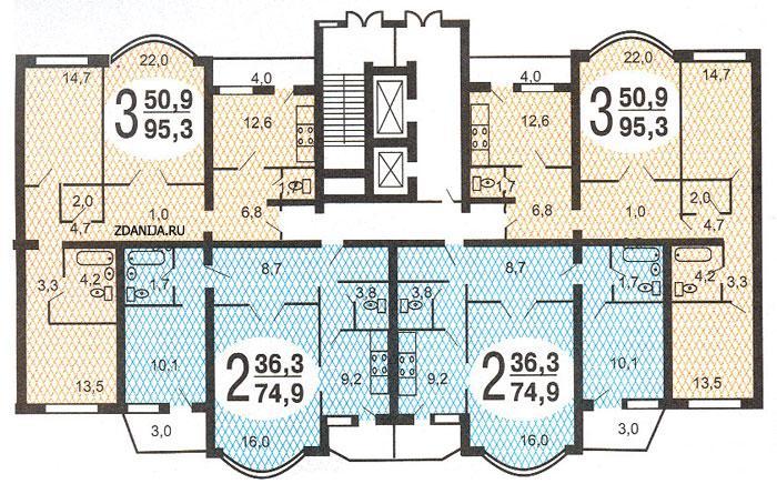 Типовые планировки квартир в жилых домах серии и-155 - дома серии и-155 фото
