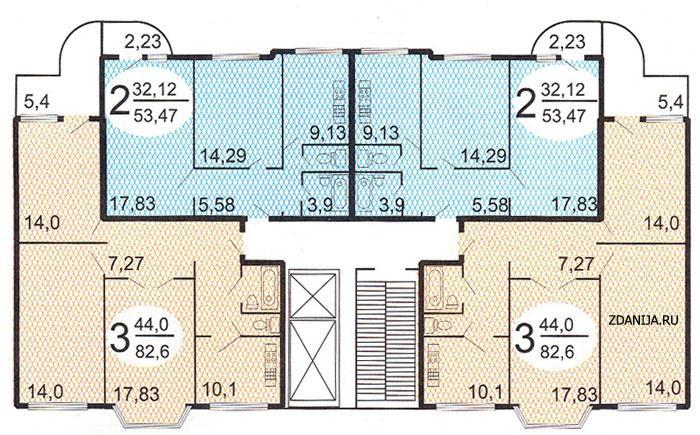 Типовые планировки квартир в жилых домах серии п3м - п3м - серии домов фото