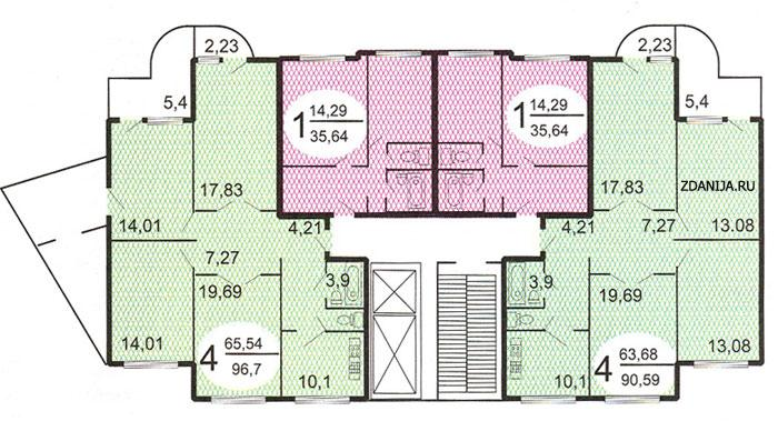 типовые планировки квартир в жилых домах серии п 3м - п3м - серии домов фото