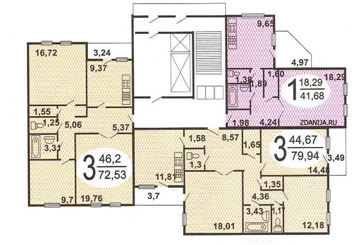 гмс-2001 типовые планировки квартир в жилых домах - ГМС-1  ( ГМС-2001 ) фото