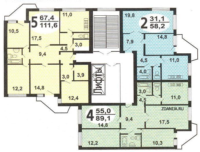 типовые планировки квартир в жилых домах пд 4 - Пд4 и Пд4м фото