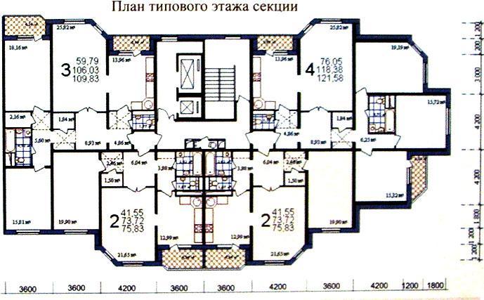 Типовые планировки квартир в жилой секции дома серии МПСМ - МПСМ фото