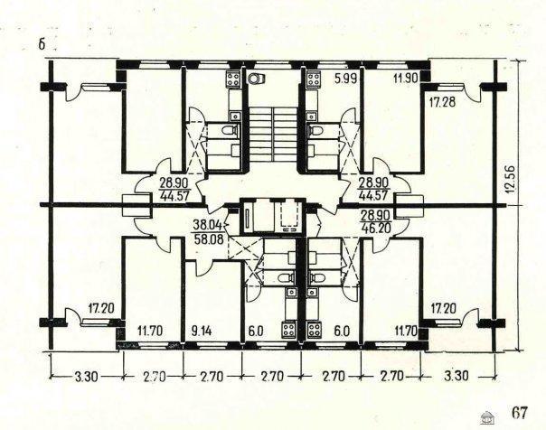 Планировка квартир в жилых домах серии II-49 - II-49 фото