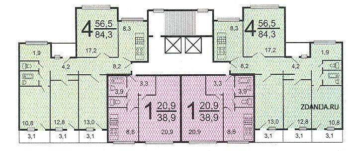 Планировка квартир в жилых домах серии п-55 - Дома серии п55, планировки квартир  фото