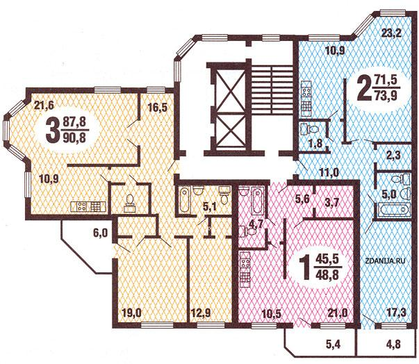 Планировка квартир в жилых домах серии гмс 3 - Дома ГМС-3 фото