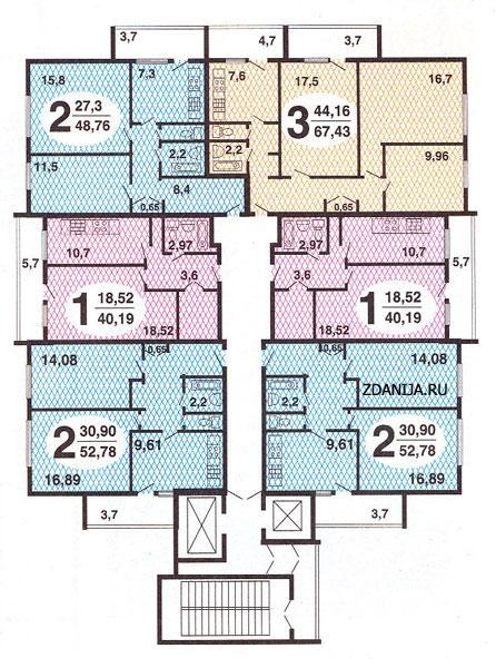 планировки квартир в домах Москворецкая башня - Москворецкая башня фото
