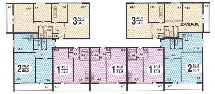 планировки квартир серии  II-68: - II 68 серия жилые дома фото