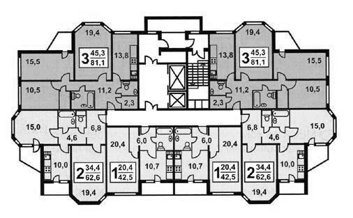 Планировка квартир в жилых домах серии и 1723 - И-1723 фото