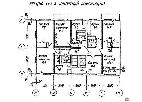 планировка квартир в домах серии II-35 - Дома серии II-35 фото
