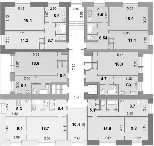 поэтажная планировка серии дома 1-447С-26 - 1-447С-26 фото