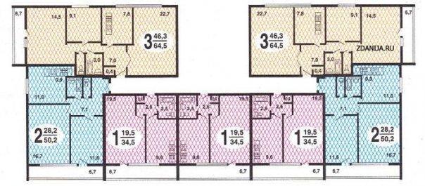 ii-68 планировка квартир в домах серии - II-68 фото