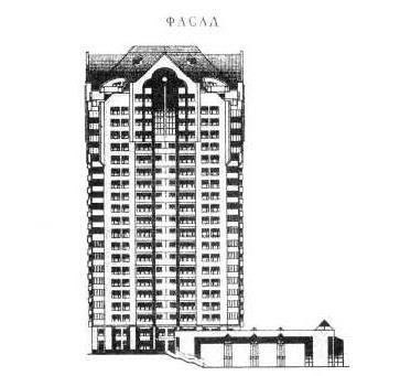 фасад здания серии И-1737 - И-1737 фото