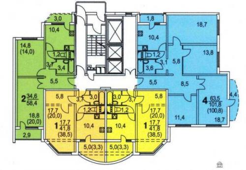 КОПЭ-М-Парус планировки квартир - Копэ-М-Парус фото