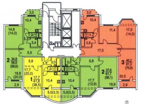 КОПЭ-М-Парус планировки квартир в домах серии - Копэ-М-Парус фото