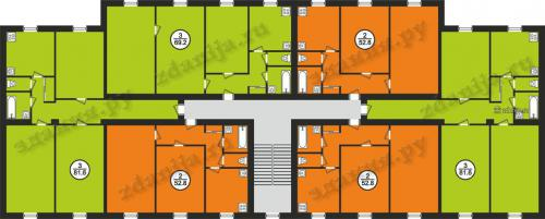 1-410 планировки квартир в домах серии - 1-410 (ранее счит. II-03) фото