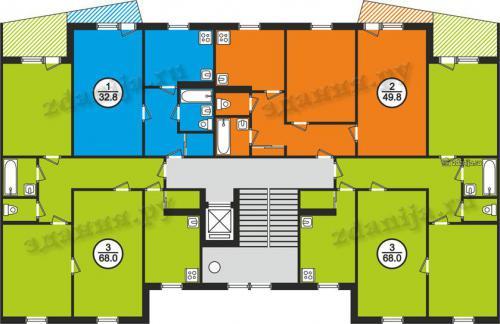121 серии планировки квартир в домах - 121 серия фото