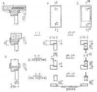 Двери - Схемы установки дверных блоков во внутренних стенах