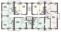 II-18 серия - жилые дома - размещение квартир в секциях дома серии II 18