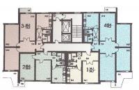 п-3 (жилые дома серии п3) - размещение квартир в секциях дома серии П3