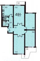 п-3 (жилые дома серии п3) - Планировка четырёхкомнатной квартиры ( серия П 3 )