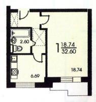 серия II 57 - Однокомнатная квартира серия II 57