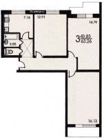 серия II 57 - Планировка трёхкомнатной квартиры ( серия II 57 )