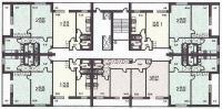 Башня Вулыха - расположение квартир в секции жилого дома серии Башня Вулыха