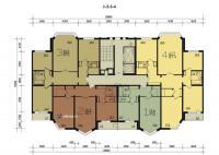 П44М - планировка квартир в типовой секции дома п44м