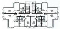 дома серии п3м-1/16 - Планировка жилой секции в доме серии п3м