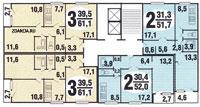 п30 серии домов - планировка жилой секции в доме серии п 30