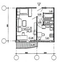 дома эко (М6-ЭКО) - однокомнатная квартира, А  [однокомнатные квартиры домов серии эко ]