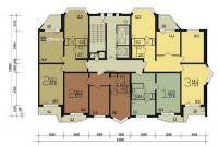 Дома серии п44т - планировка типового этажа п44т  прямая секция 1-3