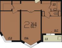 Дома серии п44т - планировка двухкомнатной квартиры п 44 т